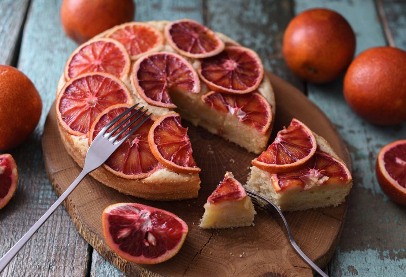 Amandelcake Met Bloedsinaasappel