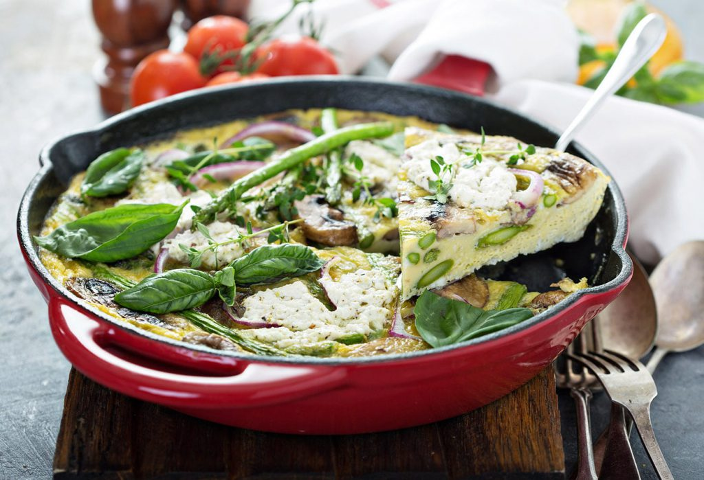 Recept: Frittata met groene asperges
